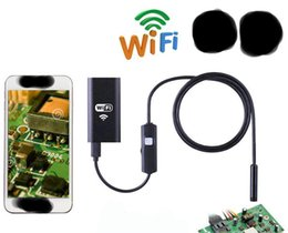 Wholesale Endoscope Wireless - Hd 2million wireless 8mm WIFI industrial endoscope support android mobile phones apple pipeline unlock mechanics hard lines and sof