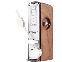 beschichtete gitarren saiten Rabatt Meistverkaufte tragbare Mini mechanische Metronom für Violine Gitarre Licht Mahagoni