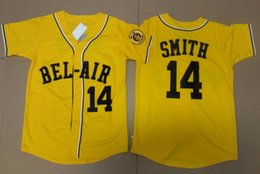 Wholesale L Bel - Baseball Jersey Will Smith 14# Baseball Jersey Bel-Air Academy Embroidery Stitched the Fresh Prince