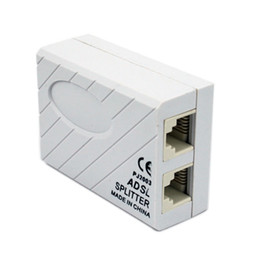 Wholesale Wholesale Network Jacks - RJ11 Cable Line ADSL Fax Modem Phone Network Jack Micro Filter Splitter Adapter