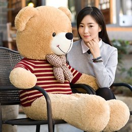Wholesale Lovely Big Teddy Bear - Hot sale lovely Teddy Bear Lovers Big bear Arms Stuffed Animals Toys Plush Doll Valentine's gift Christmas gift