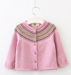 Wholesale Girls Cardigan Retail - Wholesale and Retail 2017 New brand Children clothing Toddler girl embroider cardigan sweater kids fashion sweater outwear Free shipping