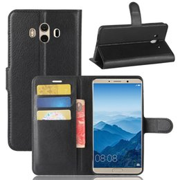 Wholesale Huawei Flip Case - For Huawei Mate 10 Lite honor V9 Play G10 Enjoy 7 Y6 PRO 2017 Flip Litchi skin PU Wallet Card leather case cover stand holder slots cases