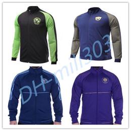 Wholesale Galaxy Uniforms - Top quality 2017 2018 America cougar long sleeve soccer jackets 17 18 adult coat men outdoor football hoodies LA galaxy sports coats Uniform