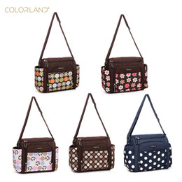 Wholesale Nappies Patterned - High Quality Fine Pattern Multifunctional Mother Messenger Bag Fashion Waterproof Maternity Tote Nappy Bags Baby Stroller Diaper Stackers