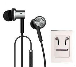 Wholesale Wire Units - E-MI High Quality Xiaomi Hybrid Earphone 2 Units In-Ear HiFi Earphone Xiaomi Mi 1 more Piston Headphones with Mic Remote