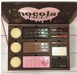 Wholesale Eyeshadow Primer Set - Faced Limited Edition Chocolate Vault eyeshadow foundation primer makeup set for 2017 Christmas gift DHL shipping