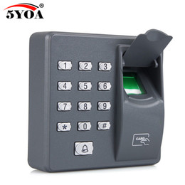 Wholesale Digital Fingerprint Lock - Wholesale- Biometric Fingerprint Access Control Machine Digital Electric RFID Reader Scanner Sensor Code System For Door Lock