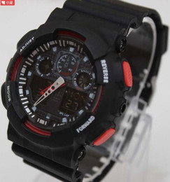 Wholesale Color Led Watches Display - 2017 dual display sports watch ga100 G Black Display LED Fashion army military shocking watches men Casual Watches ga110
