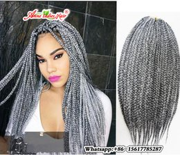 Wholesale Long Curly Hair Extensions - Hand Made 3S Crochet Box Braids Hair 12 16 20 24 Inch Long Crochet Braids Synthetic Hair Extensions 8 Packs Full Head