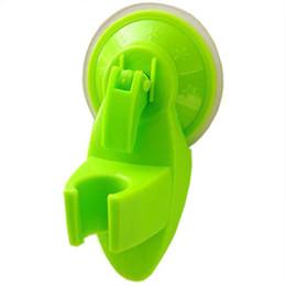 Chuveiros verdes on-line-Venda por atacado - Casa de Banho Suporte de Vácuo Parede Ventosa Montagem na Parede Ajustável Suporte de Cabeça de Chuveiro verde