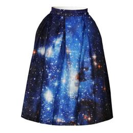 Wholesale Dresses Galaxy - Girl kids short skirts womens 3d print blue galaxy skirt sexy mini skirt high waisted mermaid skirts summer denim skirt dress elegant dress