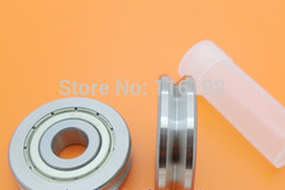 Wholesale Track Bearings Wholesale - Wholesale- V6000ZZ V6000 6000ZZ 6000 V Groove pulley ball bearings 10X30X8 mm Track guide roller bearing