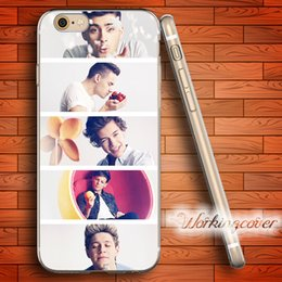 Wholesale One Direction Iphone Cases - Fundas One Direction Collage 2018 Soft Clear TPU Case for iPhone 6 6S 7 Plus 5S SE 5 5C 4S 4 Case Silicone Cover.