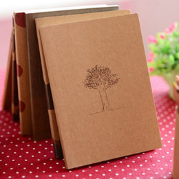 Wholesale Notebooks Best Price - Wholesale- Best Price Small Blank Kraft Paper Notebook Notepad Sketchbook Diary Journal Paint Drawing Pattern Randomly Stationery