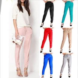 Wholesale Womens Wholesale Harem Pant - 7 colors fashion women harem pants long trousers women wide leg pants trousers Elastic Waist Womens Casual Pants