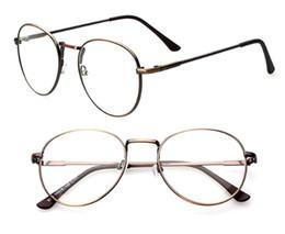 Wholesale Wholesale Standard Eyewear Frames - Big Metal Frame Mens Womens Nerd Glasses Clear Lens Eyewear Unisex Retro Eyeglasses Spectacles 9254