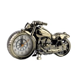 Wholesale Home Alarm Battery - Wholesale- Drop Shipping Motorcycle Motorbike Pattern Alarm Clock Watch Creative Home Birthday Gift Promotion