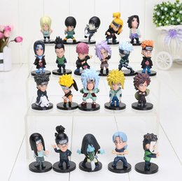 Wholesale Naruto Figures Set - 21pcs set Naruto action figure Naruto kakashi sasuke xiao earners model doll Naruto Kaka Xizuo PVC Figure Toy Doll
