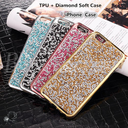Wholesale Flash Case Iphone - For iPhone 7 Jewelry Case Diamond TPU Case For Iphone 6s Cases Crystal Luxury Glitter Bling Flash Power Soft Case