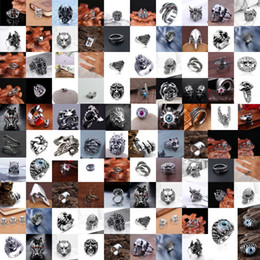 Wholesale Wholesale Biker Rings Free Shipping - Free Shipping+Free Gift-Fashion Hot Selling Men's Stainless Steel Silver Fashion Cool Gothic Punk Biker Finger Rings Jewelry