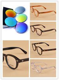 9e2b9ea033 Occhiali da sole di marca-Top qualità occhiali da sole Moscot Lemtosh  rivestimento polarizzato Lens Fashion Design Johnny Depp Men Occhiali da  sole Occhiali ...