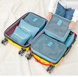 Wholesale Waterproof Travel Storage Bags Packing Cube Clothes Pouch Luggage Organizer protect suits from dirt dust damp