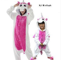 Wholesale One Piece Pyjamas - Animal pajamas one piece Family matching outfits Adult Mother and daughter clothes Totoro Dinosaur Unicorn Pyjamas women