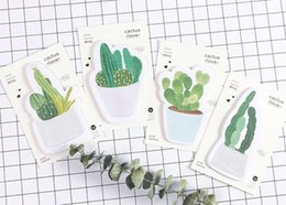 Wholesale Radiation Protection - Wholesale- New cute cactus love notepad   paper sticky message note   Memo pad   Wholesale