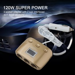 Wholesale Car Power Splitter Usb - 3 Way 2 USB Power Converter Car Adapter Cigarette Lighter Socket Splitter CEC_62D