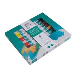 Wholesale Acrylic Paint Pigment - pigment set High Quality 18 Colors Acrylic Nail Paints Pigment Nail Art Polish 3D Paint Design Tube Set False Tips Drawing