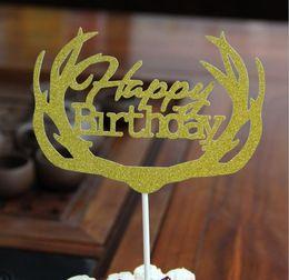 2019 decorações diy do partido para miúdos Diy bolo cupcake topper multi-forma feliz aniversário bolo bandeiras para a festa de aniversário da família crianças bolo baking decoração suprimentos g1038 decorações diy do partido para miúdos barato