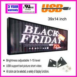 Wholesale Images Advertising - LED display full color electronic rolling advertising screen USB can edit text image