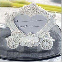 Wholesale White Carriage Frame - Wedding Gifts Souvenirs and giveaway -- White Pumpkin Carriage Photo Frame