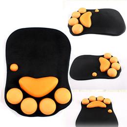 Wholesale Silicone Wrist Rest Mouse Pad - 2017 Cat claw creative mouse pad wrist care cute big hug anger thickening 3d silicone wrist pad hand care