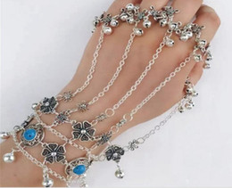 Wholesale Plastic Bow Charms - Fashion tassel chain hand chain personalized fashion jewelry bracelet high quality diamond bow Coin bells bracelet jewelry wholesale