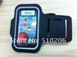 Wholesale Iphone5 Belt Leather Cases - newest Sport ArmBand leather Case for apple iphone 5 5g , Solf Belt arm band For iphone5 , 5pcs lot