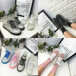 Wholesale Transparent Pvc Boot - Transparent shoes rain boots waterproof summer Martin Rain Boots Shoes Fashion Women Boots