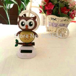 Wholesale Solar Powered Dancing Novelties - Wholesale-Retail Packing Swing Under Full Light Solar Powered Energy Toys Novelty Home&Car Decoration Happy Dancing Solar Owl