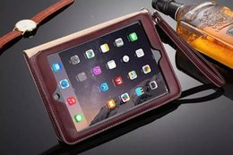 ipad mini hand cover Promo Codes - 2017 Hand Holder Design Leather Case For ipad 2 3 4 5 6 7 Speaker Amplifier Cover Stand for ipad mini 1 2 3 4 High Quality