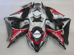 Wholesale Zx6r White Red - Injection Fairings For Kawasaki Ninja 636 ZX-6R ZX6R 13 14 15 2013 2014 2015 ABS Motorcycle Fairing Kit Body Kits red white Black New
