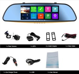 "Wholesale Car Gps Back Cameras - Android 4.4 OS Car GPS Front and Back Digtal Video Camera 7"" Mirror Monitor+CAM"