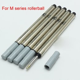 Wholesale Pc Specials - 5 Pcs lot high Good quality MB Pen Refill rod cartridge Special for M series Rollerball pen black ink recharge Office stationery