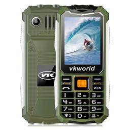 Wholesale Cheap Video Camera Light - cheap Original VKworld V3S 2.4inch Mobile Phone Shockproof Waterproof Anti-dust V3W Stone Dual SIM Double LED Lights 2200mah Elder