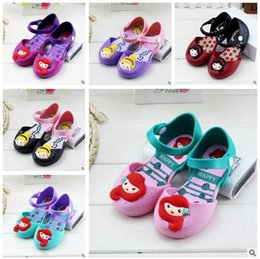 Wholesale Wholesale Pvc Jelly Shoes - Jelly Shoes Mermaid Girls Melissa Princess Sandals KIds Sandals Shoes Mini Princess Shoes Anti-Skid Sapato Melissa Sandals Free Shipping