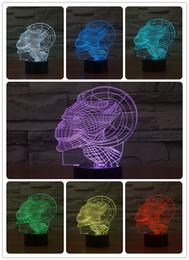 2019 nacht lichter für wände Günstigstes 2016 Kreative Horn Kopf Nachtlicht 3D Wandleuchte Erstaunliche Baby Zimmer Dekoration Nachtlicht Lampada de parede Weihnachtsgeschenk günstig nacht lichter für wände