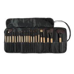 All'ingrosso-Professionale 24 pezzi Set pennelli trucco Trucco Kit da toilette Marca lana Make up Pennelli per capelli di capra Set pinceaux maquillage da