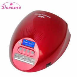 Wholesale Infrared Red Sensor - Wholesale- Dorame SUN G2 45W Professional Nail Dryer UV Lamp Infrared Sensor Led Lamp For Nails Curing Nail Gels LCD Display Nail Arts