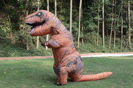 Wholesale Costume Dinosaur - .Inflatable Dinosaur T REX Costume Blowup Dinosaur Halloween Costumes China Dinosaur Inflatable Costume For Adults Men Women Free Shipping