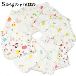 Wholesale Gauze Scarfs - Wholesale- 1pcs 100% Double Gauze Handkerchief fashion Baby Wash Scarf Bath Towel Scar Towel Baby Feeding Accessories YE01059 Senza Fretta
